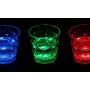 Bicchieri shot LED multicolor - set da 3 pezzi