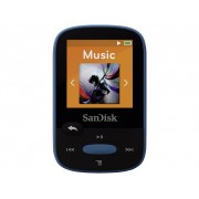 SanDisk Sansa Clip Sport MP3-spelare 8 GB Blå Monterings-clip, FM Radio