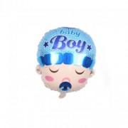 Balon folie cap bebe baiat 45 cm