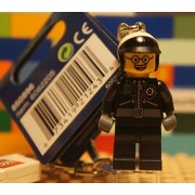 The LEGO Movie BAD COP Police Minifigure Keychain / key ring - 850896