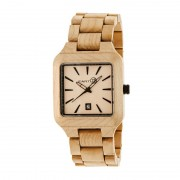 Earth Wood Arapaho Bracelet Watch w/Date - Khaki/Tan ETHEW3601