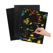 Lustre Rainbow Mini Scratch Art Paper Magic Doodle Craft A4 (21Cm*28Cm) 10 Sheets