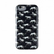 Wilma glow in the dark leopard case panther night iPhone 6 6s 7 8 - Black
