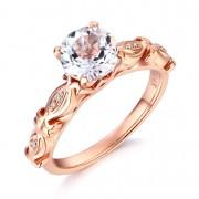 Inel Borealy Aur Roz 18 K 1 5 Ct Topaz Vintage Engagement Ring