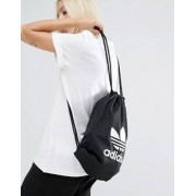 adidas Originals Drawstring Backpack With Trefoil Logo - Black