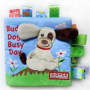 Gotovang Animal Style Monkey/Owl/Dog Newborn Baby Toys Learning Educational Kids Cloth Books Cute Infant Baby Fabric Book Ratteles Toy