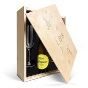 YourSurprise Coffret mousseux avec verres - Riondo Prosecco Spumante - Couvercle gravé