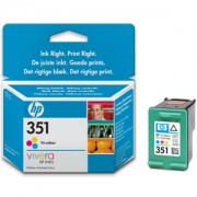 HP 351 ( CB337EE ) Tri-colour Inkjet Print Cartridge with Vivera Inks