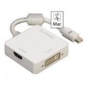 Адаптер HAMA 3in1 Mini DisplayPort за DVI, DisplayPort или HDMI - HAMA-53245