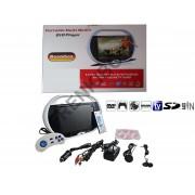 """Lettore DVD portatile LCD 9,5"""" TV FM MP3 MP4 SD USB GAME BOOMBOX"""