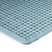 Modrá protiskluzová koupelnová vanová rohož FLOMA - délka 75 cm a šířka 35 cm