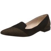 Clarks Women's Gino Fame Sde Black Leather Fashion Sandals - 4 UK/India (37 EU)