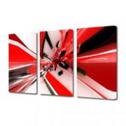 Tablou Canvas Premium Abstract Multicolor Rosu Alb Negru Decoratiuni Moderne pentru Casa 3 x 70 x 100 cm
