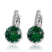 Dames Oorknopjes Ring oorbellen Eenvoudige Stijl Modieus Kostuum juwelen Zirkonia Legering Cirkelvorm Sieraden Voor Bruiloft Feest