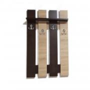 Cuier Hol Wenge Sonoma Pentru Perete cu 4 Cuiere Duble 100 x 60 cm Pal 18mm si cant ABS