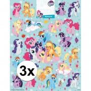 My Little Pony 3 x Stickervellen My Little pony groot