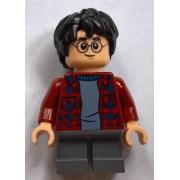 hp143 Minifigurina LEGO Harry Potter-Harry Potter, bluză roșu închis h