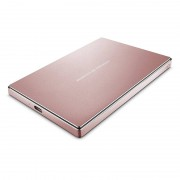 Hard disk extern Lacie Porsche Mobile Drive 2TB 2.5 inch USB 3.1 Type C Rose Gold