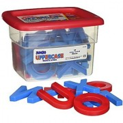 School Smart Jumbo Phonetically Color Coded Uppercase Magnetic Letters - 2 1/2 Inches - Set Of 42 - Blue And Red