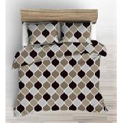 3 részes ágytakaró szett 220x240 cm exkluzív arany - világos bézs