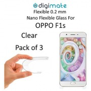 Digimate Nano Clear 0.2 mm Screen Guard Protector Flexible Glass for Oppo F1s (Pack of 3)