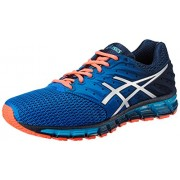 Asics Men's Gel-Quantum 180 2 Dark Navy, Silver and Flash Coral Running Shoes - 7 UK/India (41.5 EU)(8 US)
