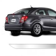 Friso Porta Malas Chevrolet Sonic Sedan Cromado Resinado