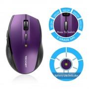TeckNet M006 2.4G Wireless Mouse - ергономична безжична мишка (за Mac и PC) (лилав)