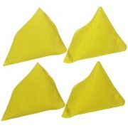 GSI Pack of 4 Yellow Pyramid Toss Bean Bags for Activity Games