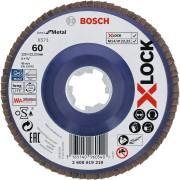 Bosch X-LOCK lamelne ploče, ravna verzija, plastična ploča, Ø125 mm, G 60, X571, Best for Metal, 1 komad - 2608619210
