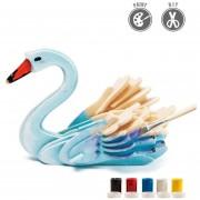 3D Puzzle De Pintura Forma De Cisne