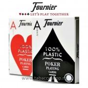 Carti de joc Fournier 100% Plastic Jumbo Index