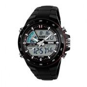 Waterproof Skmei Analogue-Digital Black Dial Mens Watch