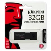 Memorie USB Kingston DT100G3 32GB USB 3.0 negru