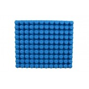 """Baseplate 12.5"""" x 15"""" Large Beginner Briks Baseplate by Strictly Briks   100% Compatible with Mega Bloks First Builder Blocks   Large Pegs for Toddlers   Single Tight Fit Stackable Base Plate (Blue)"""