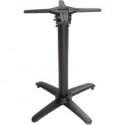 Bolero Pied de Table Basculant Aluminium Noir pour Plateaux Max.700mm
