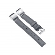 For Garmin Vivosmart HR+ PU Leather Watch Band with Connector and Tool - Grey