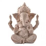 Desconocido La Tonalidad De La Piedra Arenisca De Buda Ganesha Estatua Del Elefante Estatuilla De La Escultura Hecha A Mano