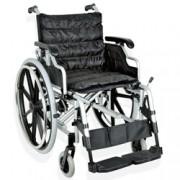sedia a rotelle / carrozzina adulto deluxe - in alluminio