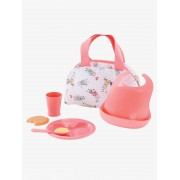 COROLLE Primeiro conjunto de refeição, Corolle rosa medio liso com motivo