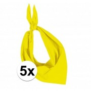 Kariban 5x Zakdoek bandana geel