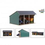 Kids Globe Hangar de ferme pour tracteurs jouet Grand 1:32 Bois 610193