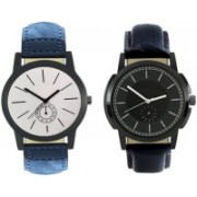 E-SMART 410-413 Stylish New Collection Combo Watch With Round Dial And Leather Strap Watch - For Men
