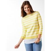Walbusch Streifen Sweatshirt 2in1