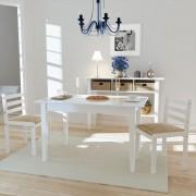 vidaXL Matstolar i trä fyrkantig design vit 2 st