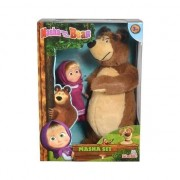Set Simba Masha and The Bear ursulet de plus 25 cm si papusa Masha 12 cm