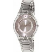Ceas Swatch dama Skin SFK393G argintiu Stainless-Steel Swiss Quartz