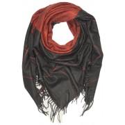 Glory Autumn velký šátek - zimní pléd hnědá