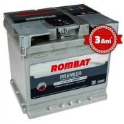Acumulator auto Rombat Premier, 12V, 50 Ah, curent pornire 500A,