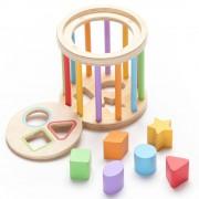 Sortator din lemn cu forme geometrice colorate